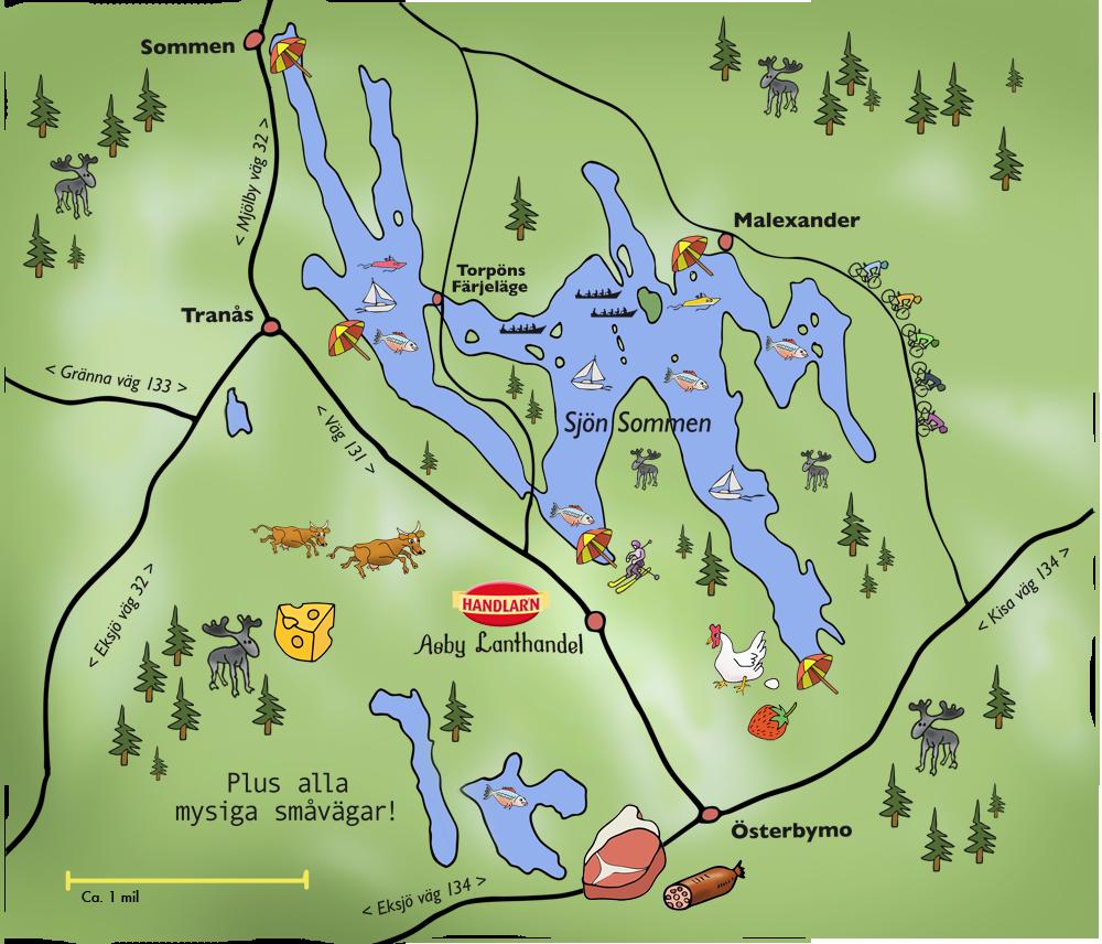 Asby tecknad karta